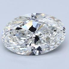 2.50-Carat Oval Diamond Very Good H SI1