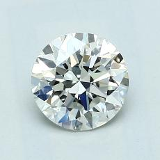 1.00-Carat Round Diamond Ideal J VVS1