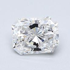 1,01-Carat Radiant Diamond Very Good D VVS2