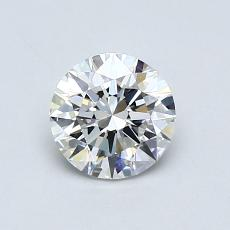 0,70 Carat Redondo Diamond Ideal D VVS1