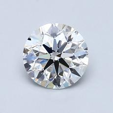 1.00-Carat Round Diamond Ideal E VS2
