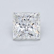 推荐宝石 1:1.01 克拉公主方形钻石