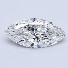 1.01-Carat Marquise Diamond Very Good D SI1
