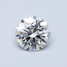 0.70-Carat Round Diamond Ideal D VS1