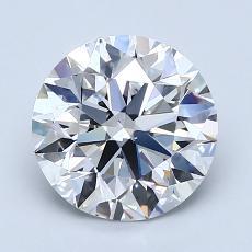 2.00 Carat 圓形 Diamond 理想 D VS2