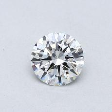 0,40-Carat Round Diamond Ideal F VVS2
