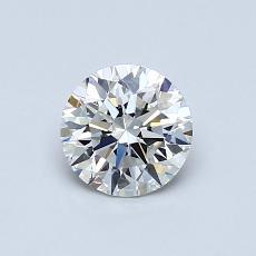 0.75 Carat 圓形 Diamond 理想 G VVS2