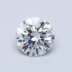 0.80-Carat Round Diamond Ideal E VVS2