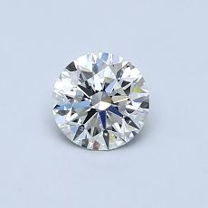 0.52-Carat Round Diamond Ideal F VS2
