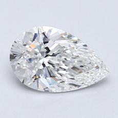 1.01-Carat Pear Diamond Very Good E VS1