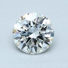 1.00-Carat Round Diamond Ideal H SI2