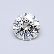 0.60 Carat 圆形 Diamond 理想 H IF