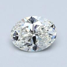 0.95-Carat Oval Diamond Very Good I SI1