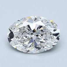 1.21 Carat 椭圆形 Diamond 非常好 F SI1