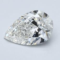 推薦鑽石 #3: 1.70 克拉梨形鑽石