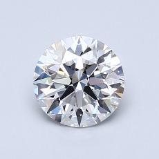 0.90-Carat Round Diamond Ideal F VS1
