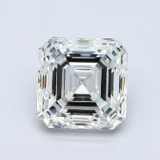 1.20-Carat Asscher Diamond Very Good H VVS2