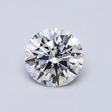 Target Stone: 0,72-Carat Round Cut Diamond