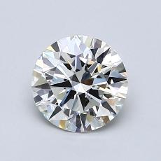1.01-Carat Round Diamond Ideal H VVS2