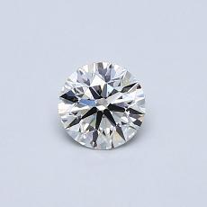 0.40 Carat 圓形 Diamond 理想 E VVS2