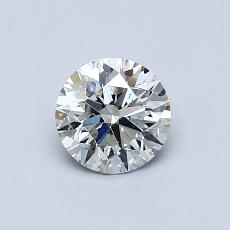 0,62-Carat Round Diamond Ideal I SI1