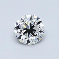 0.70-Carat Round Diamond Good F VVS2
