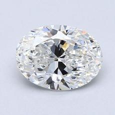 0,90-Carat Oval Diamond Very Good G VS2