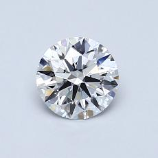 0.70-Carat Round Diamond Ideal D IF