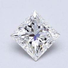 1.20 Carat 公主方形 Diamond 非常好 D VVS1