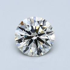 1.00-Carat Round Diamond Ideal K SI2