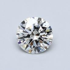 0.70-Carat Round Diamond Ideal K VS2