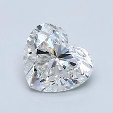 1,03-Carat Heart Diamond Very Good F VVS1