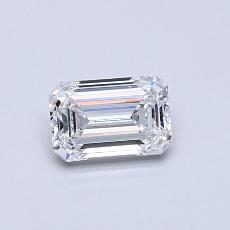 Recommended Stone #2: 0.52-Carat Emerald Cut Diamond