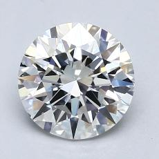 1.30-Carat Round Diamond Ideal D VS2