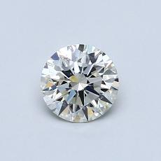 0,52-Carat Round Diamond Ideal K VVS2