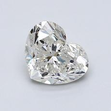 1,00-Carat Heart Diamond Very Good G SI2