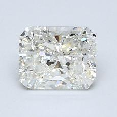 Pierre recommandée n°1: Diamant taille radiant 1,25 carats