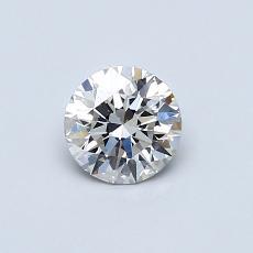 0.50 Carat 圆形 Diamond 理想 H VVS2