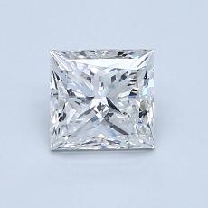 1.00 Carat 公主方形 Diamond 非常好 E SI2