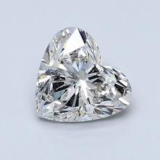 1.03-Carat Heart Diamond Very Good H SI2