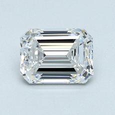 1,01-Carat Emerald Diamond Very Good D VVS1