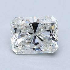 2.01-Carat Radiant Diamond Very Good H VVS2