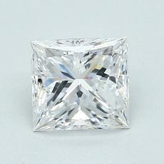 Pierre recommandée n°2: Diamant taille princesse 0,90 carat
