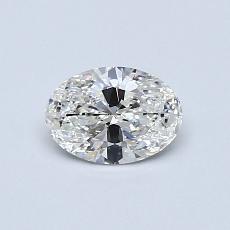 0.51 Carat 椭圆形 Diamond 非常好 G VS2