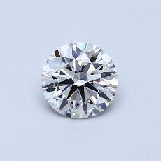 0.54-Carat Round Diamond Ideal F VS1