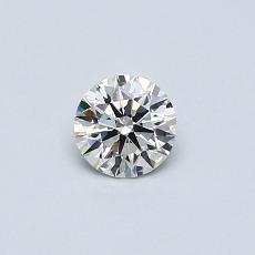 0.32-Carat Round Diamond Ideal I VVS2
