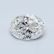 0.80-Carat Oval Diamond Very Good F SI1