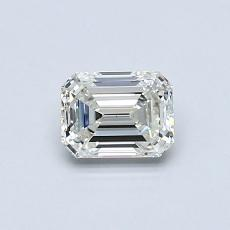 0.53-Carat Emerald Diamond Very Good J VS1