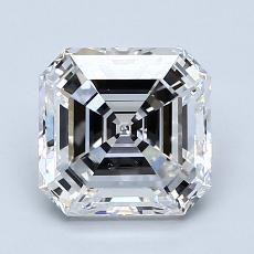 Pierre recommandée n°4: Diamant taille Asscher 2,01 carat