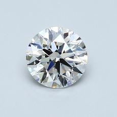 0.75 Carat 圆形 Diamond 理想 G VS1